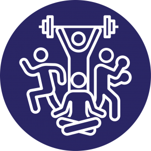 Icon made to represent the different type of activities users can enjoy if they join our community.