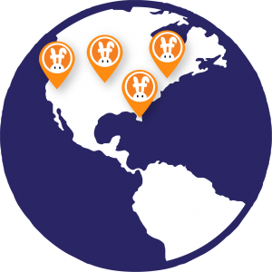 Icon made to represent HopperFits current reach.