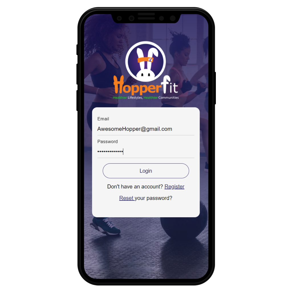 Image of HopperFits registration page
